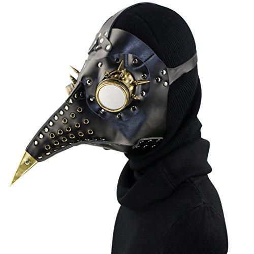 Arzt Maske Kunstleder Vögel Schnabel Masken Halloween Kunst Cosplay Carnaval Requisiten (Pest-masken)