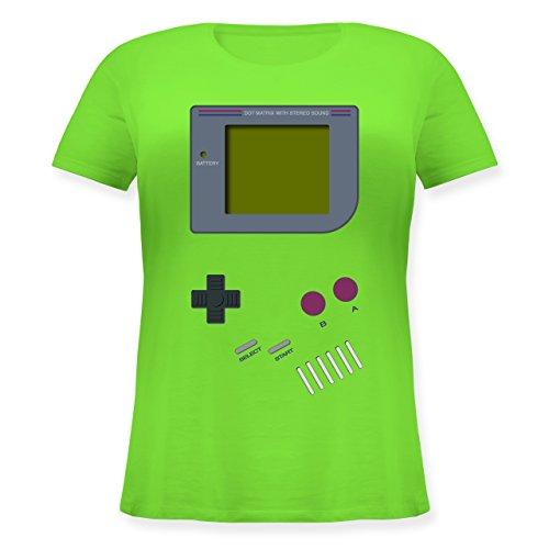 Nerds & Geeks - Gameboy - L (48) - Hellgrün - JHK601 - Lockeres Damen-Shirt in großen Größen mit Rundhalsausschnitt