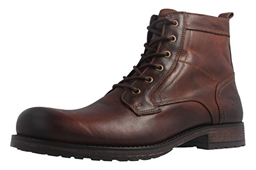 Mustang Shoes Boots in Übergrößen Braun 4865-507-301 große Herrenschuhe, Größe:50