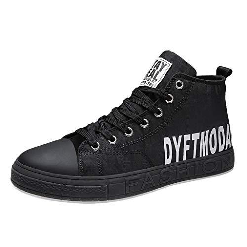 Sneakers Alte da Uomo Scarpe di Tela Scarpe Casual Allacciate Allacciate Scarpe da Corsa Sportive per Studenti per Uomo/Ragazzo di Kinlene