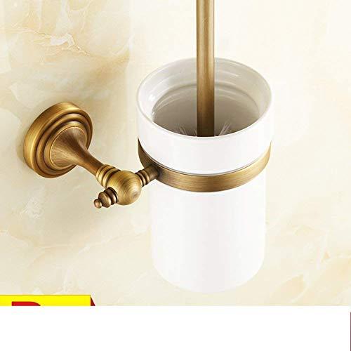 QiXian Toilettenbürste Abfallbehälter Set Vollkupfer Antik Wc-Bürstenhalter Kostüm Gemeinschaften Retro-Stil Metall Unterstützer von Bad Wc-Bürste Tasse Stark - Gemeinschaft Kostüm