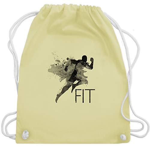 CrossFit & Workout - Fit - Splash - Unisize - Pastell Gelb - WM110 - Turnbeutel & Gym Bag (Marathon Kordelzug)