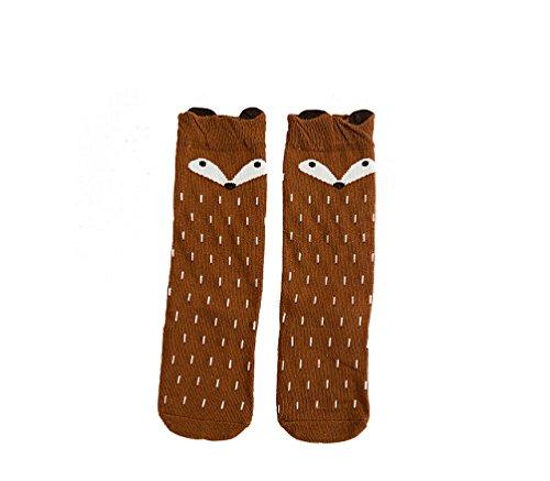 1-paar-kinder-madchen-fuchs-muster-knee-high-socks-strumpfe-von-ilovediy-fur-0-1-jahre-braun
