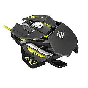 Mad Catz R.A.T. PRO S Gaming Maus für Ihren PC Laptop – Ultraschnelle und leichte 9 Tasten 5000 dpi kabelgebundene Computermaus – 2 Wege Scrollrad