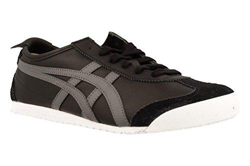Onistuka Tiger Mexico 66 Unisex-Erwachsene Sneakers, Schwarz (Black/Carbon), 45 EU