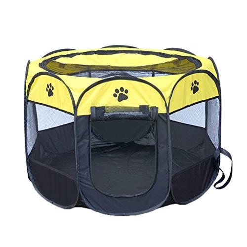 Aiming 8 Punkte Haustier-Zelt beweglicher Playpen Folding Crate Haus im Freien Oxford-Gewebe weicher Kennel Cage - Freien Rot-gewebe Im