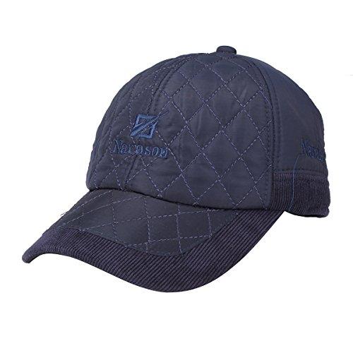 Inovey Outdoor Travel Winter Cap Sports Bonnet Earflap en Coton Chaud avec Cache-Oreilles -Bleu