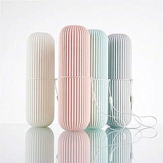X-BLTU Taza de Viaje para enjuagar la Boca, Soporte para Pasta de Dientes, Soporte para Cepillo de Dientes portátil, irrompible, para Parejas de plástico, Organizador de baño (2 Colores al Azar)