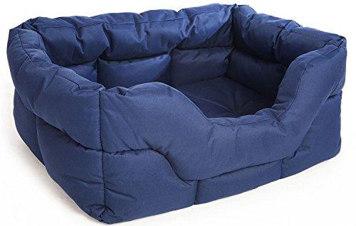 P & L Superior Pet Beds Heavy Duty Rectangular Waterproof Softee Bed, Medium, 57 x 47 x 24 cm, Brown 2