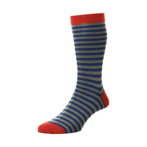 Pantherella Mens Kangley Rib Merino Wool Socks Black
