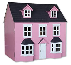 Acorn Toys Pink Traditional Georgian Style 1:12 Scale Wooden Dolls House