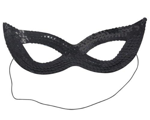 Beyondfashion Sexy Katze Frauen Pailletten VENEZIANISCHEN Masquerade Karneval Augenmaske schwarz