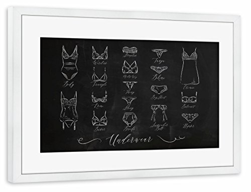Demi-tangas (artboxONE Poster mit Rahmen weiß 60x40 cm