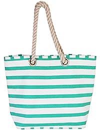 Sac de plage xxl avec hippocampes sac de plage, sac à main en toile, classic style cannes2» largeur : env. 59 cm-hauteur : env. 35 cm-beach bag avec poche intérieure