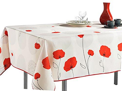 Tischdecke, schmutzabweisend, auslaufsicher, Flüssigkeiten weiß
