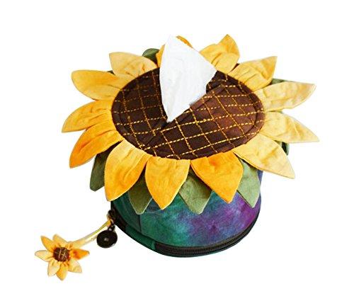 Kreative Handmade Sunflower Tissue-Boxen Abstellflächen Speicherwürfel (Grün)