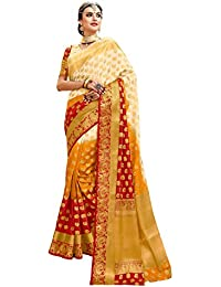 Aarti Apparels Women's Designer Kanjivaram Silk Saree_DANGAL3-5505_Multicolor