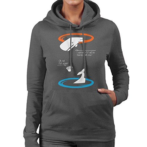 Portal Guide Hitchhikers Women's Hooded Sweatshirt Charcoal