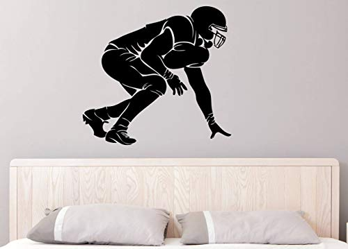 PotteLove Football O-Line Grid Iron - Sports - Linebacker - Defense - Offense - Lineman Wall Decals Wall Stickers Vinyl DIY Art Mural Peel and Stick for Home Decoration
