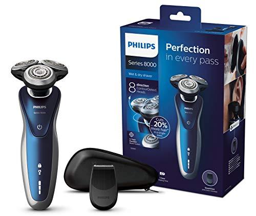 Philips S8980/13 Elektrischer Nass-und Trockenrasierer Series 8000 (V-Track-Präzisionsklingen, Präzisionstrimmer)