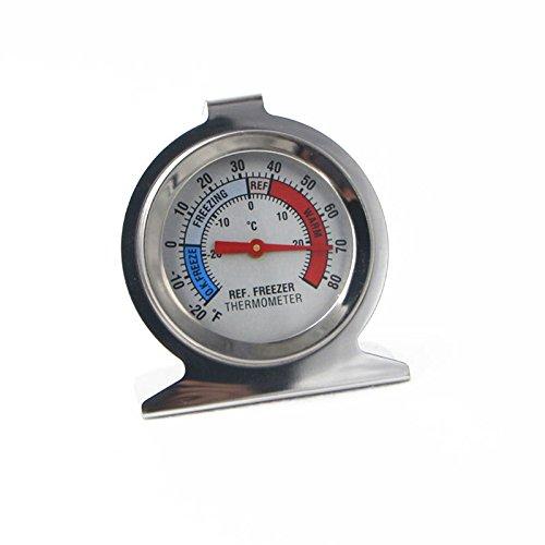 Thermometer Stand (Dxlta Kühlschrank Gefrierschrank Thermometer, Temperaturmessung Werkzeug Edelstahl-Dial-Typ)