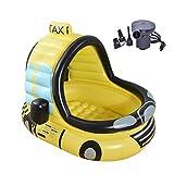 Gxf1222 GXF Auto-aufblasbarer Pool, PVC-Planschbecken - Bubble Bottom - mit elektrischer Pumpe - für Kinder unter 10 Jahren, 120x100x130cm, Gelb badewannenzubeh