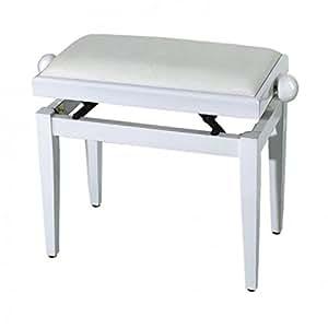 FX F900567 Banquette pour Piano Blanc Brillant