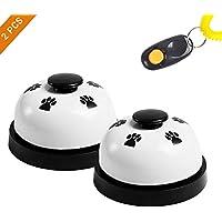 EisEyen Haustier Trainingsglocke 2 Stück Tischglocke für Hunde Katzen Pet Glocken Füttern Töpfchentraining und Kommunikationsgerät Schwärz