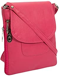 Style Loft Leather Pink Sling Bag Cross Body For Love Birds(SL-018)
