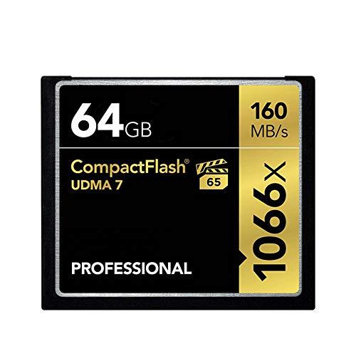 H&T Professionelle CompactFlash-Speicherkarte mit 1066-facher Geschwindigkeit und 160 MB/s, CF-Karte, Leistung Einer CompactFlash-Speicherkarte für Fotokameras,64gb