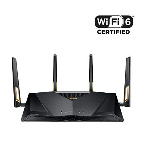 ASUS RT-AX88U - Router Gaming AX6000 Doble Banda Gigabit (Triple VLAN, certificado Wifi 6, Ai-Mesh soportado, WTFast Acelerador de Juegos, QoS, AiProtection PRO, OFDMA, MU-MIMO)