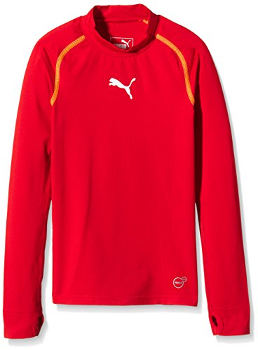 PUMA Kinder T-shirt TB Jr Long Sleeve Tee Warm, red, 152, 654867 01 (Sleeve Long Tee Kid)