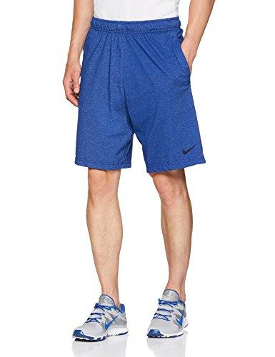 Nike Herren M NK DRI-FIT Cotton Shorts, Deep Royal Blue/Heather/(Black), M - Dri-fit Nike Training Shorts