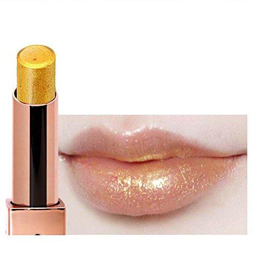 Lippenstift Mit Lipliner,EUZeo Sie Meerjungfrau Lippenstift Glitter Pigment Lipgloss langanhaltende Lidschatten Kosmetik Lippen (K)