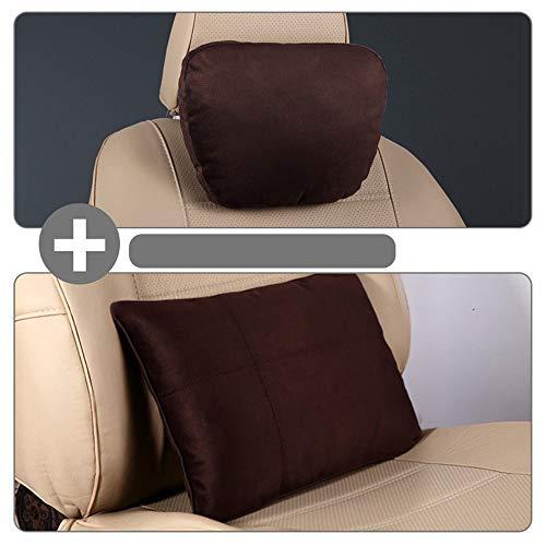 Autositz-Kopfstützenkissen und Auto-Lordosenstützenkissen Reise-Auto-Kopf-Nacken-Rückenkissen mit ergonomischem Design für Sitzposition einstellen für Bürostuhl Home / Auto / Reisepflege Taille an