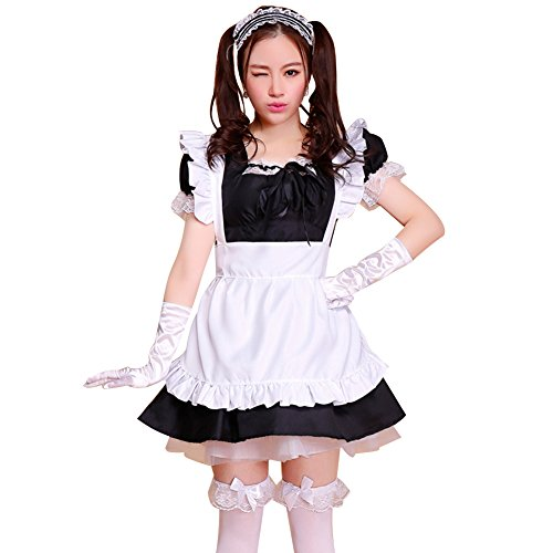 Schürze Maid Kostüm Anime Cosplay Kostüm Girls Kleid ()