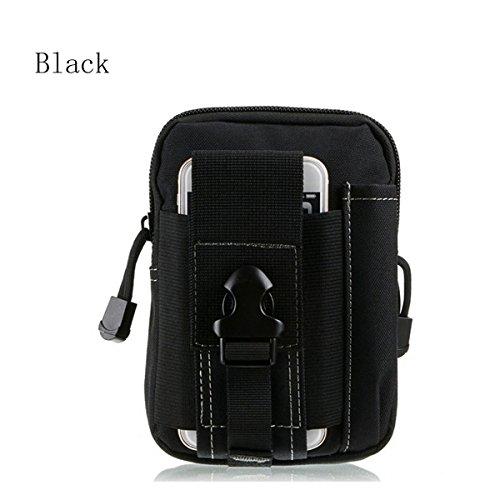 AOCK Mehrzweck-Werkzeugtasche aus Poly mit Camouflage-Muster, 1000D Nylon, für Camping und Wandern, Schwarz, S -