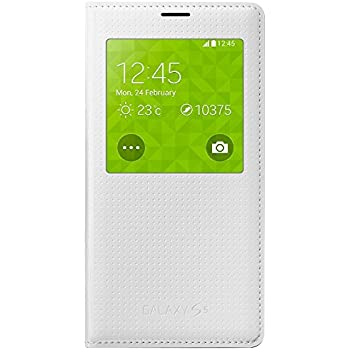 Samsung S-View Cover EF-CG900 pour S5, Punching Pattern blanc - s'adapte G900F