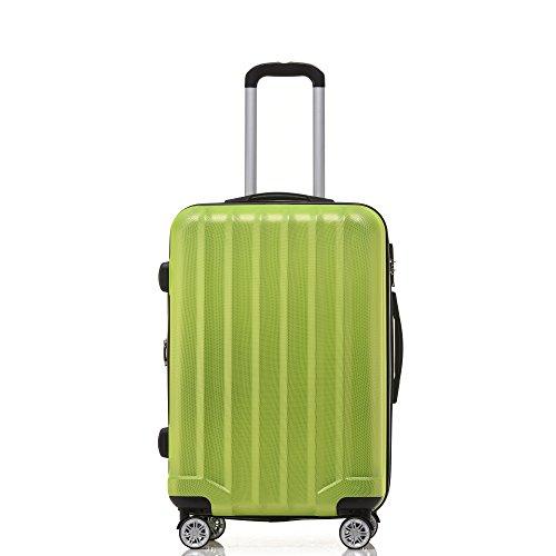 BEIBYE TSA-Schloß 2080 Hangepäck Zwillingsrollen neu Reisekoffer Koffer Trolley Hartschale Set-XL-L-M(Boardcase) in 12 Farben (Grün, 3tlg. Kofferset) - 3