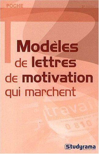 Modles de lettres de motivation qui marchent