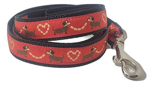 Correa Perro, perro salchicha rojo