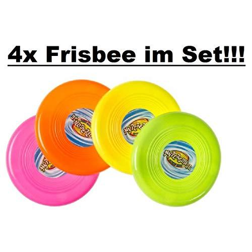 Lg-Imports 4er Set Frisbee Wurfscheibe ca.10 cm Spiel Spaß für draußen Kindergeburtstag - Lg Spa