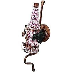 Applique Murale Retro Nostalgic Bar, Applique Murale KTV Atmosphere, Abat-Jour pour Bouteille de vin, série Design Series Design / (Poudre, Blanc, Jaune) (Couleur: Rose)
