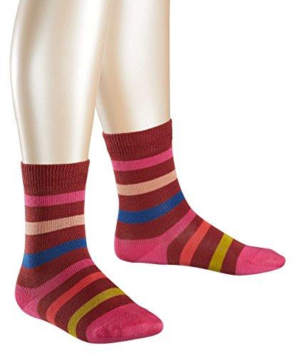 FALKE Mädchen Socken New Stripe, Gr. 27-30, Rot (maroon 8102)