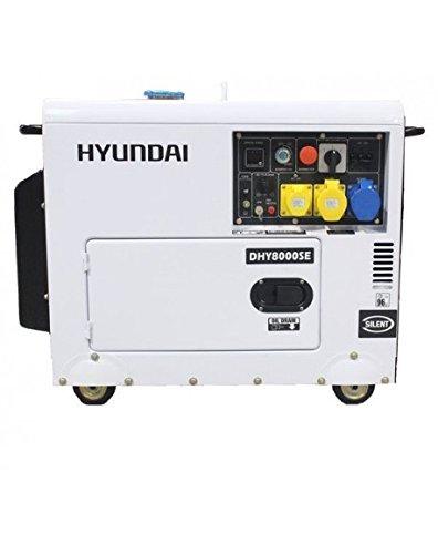 HYUNDAI Groupe Electrogène Insonorisé Diesel 6300W Triphasé - DHY8000SE-3