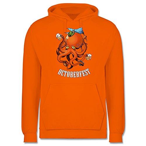 Oktoberfest Herren - Octoberfest Octopus - 3XL - Orange - JH001 - Männer Premium Kapuzenpullover / (Mann Lebkuchen Outfit)