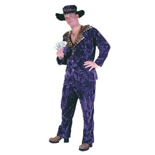 Big Daddy Purple Velvet Pimp Adult Costume Standdard (Ghost Rider Kostüm Für Kind)