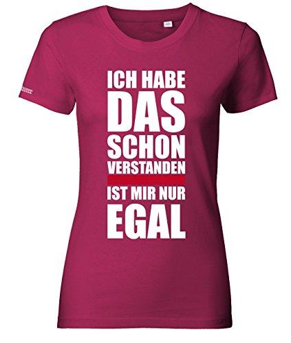 Jayess Ich Habe das Schon verstanden - is Mir egal - Damen T-Shirt in Sorbet by Gr. L