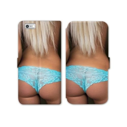 Cokitec RV Leather Flip case Schale iPhone 8 Sexy - Tanga bleu B
