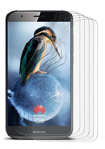 5X Huawei G8 | Schutzfolie Matt Bildschirm Schutz [Anti-Reflex] Screen Protector Fingerprint Handy-Folie Matte Bildschirmschutz-Folie für Huawei G8/G8X Bildschirmfolie